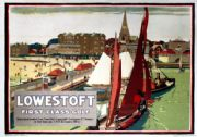 Lowestoft, Suffolk, First Class Golf. Vintage LNER Travel Poster